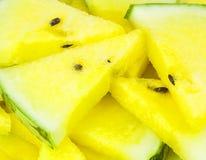Gelbe Wassermelone Lizenzfreie Stockbilder