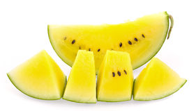 Gelbe Wassermelone Stockfoto