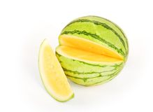 Gelbe Wassermelone Lizenzfreie Stockfotos
