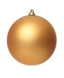 Gelbe Weihnachtskugel Stockfoto
