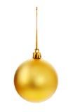 Gelbe Weihnachtskugel Lizenzfreie Stockbilder