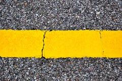 Gelbe Zeile Stockfoto