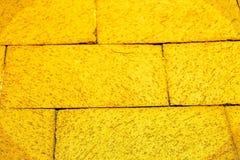 Gelbe Ziegelstein-Straße Lizenzfreie Stockfotografie