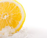 Gelbe Zitrone der Nahaufnahme Lizenzfreies Stockfoto