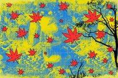 Gelber abstrakter Hintergrund stock abbildung
