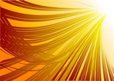 Gelber abstrakter Hintergrund Stockfotografie