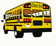 Gelber amerikanischer Schulbus Lizenzfreie Stockbilder