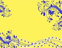 Gelber blauer abstrakter Hintergrund Stockfotos