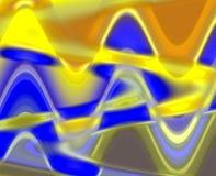 Gelber blauer unscharfer Glashintergrund der Zusammenfassung, Geometrie, heller Hintergrund, bunte Geometrie vektor abbildung