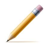 Gelber Bleistift Lizenzfreies Stockfoto