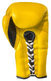 Gelber Boxhandschuh stockfotos