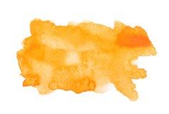 Gelber bunter abstrakter Watercolour des Handabgehobenen betrages stock abbildung