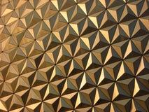 Gelber Dreieck-Hintergrund Lizenzfreie Stockfotos