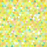 Gelber Dreieckmusterhintergrund Stockbild