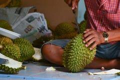 Gelber Durian Lizenzfreie Stockbilder