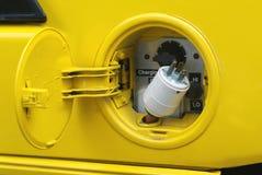 Gelber elektrischer Bolzen Stockfoto