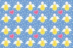 Gelber Engel mit einem rosa Herzen - Muster Stockfotos