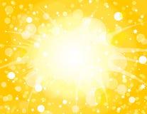 Gelber Explosion-Hintergrund Lizenzfreie Stockfotografie