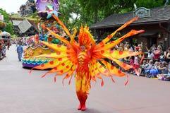 Gelber Fisch-Charakter vom Festival der Fantasie Stockbild