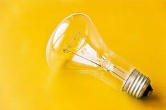 Gelber Glühlampen-Hintergrund Lizenzfreie Stockfotos