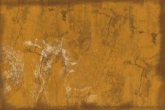 Gelber grunge Hintergrund Stockfotos