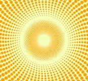 Gelber Halbtonhintergrund Stockbilder