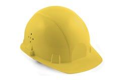 Gelber harter Hut getrennt Stockfoto