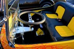Gelber heißer Rod-Innenraum Stockfoto