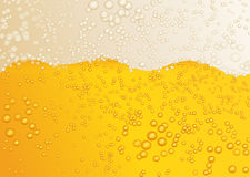 Gelber Hintergrund des Bieres Lizenzfreie Stockbilder