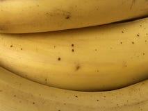 Gelber Hintergrund mit Bananenschalenbeschaffenheit stockfoto