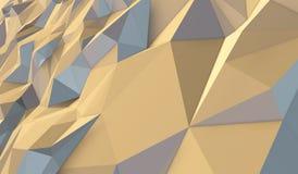 Gelber Hintergrund von Dreiecken Lizenzfreie Abbildung