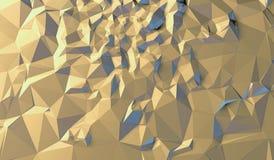 Gelber Hintergrund von Dreiecken Stock Abbildung