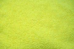 Gelber Hintergrund, weiches microfiber Gewebe Lizenzfreie Stockbilder