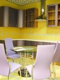 Gelber Küche Lizenzfreies Stockfoto