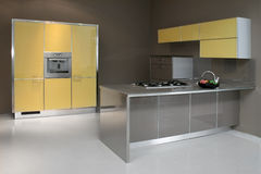 Gelber Küchewinkel Lizenzfreie Stockfotografie