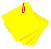 Gelber klebriger und roter Klipp Lizenzfreies Stockbild