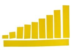 Gelber Klebstreifen stockbilder