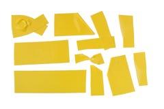 Gelber Klebstreifen lizenzfreie stockfotos
