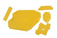 Gelber Klebstreifen lizenzfreie stockbilder