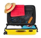 Gelber Koffer Lizenzfreies Stockbild