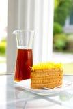 Gelber Kuchen defocus Stockbilder