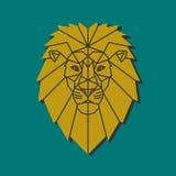 Gelber Löwekopf stock abbildung
