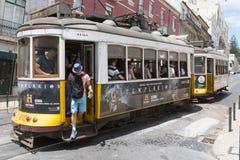 Gelber Lissabon-Förderwagen Lizenzfreie Stockfotografie
