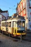Gelber Lissabon-Förderwagen Lizenzfreie Stockbilder