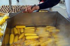 Gelber Mais gekocht Lizenzfreies Stockbild