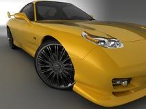 Gelber Mazda Stockfotos