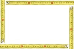 Gelber messender HilfsmittelBilderrahmen Stockbilder