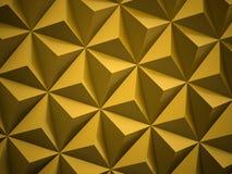 Gelber moderner polygonaler Hintergrund Lizenzfreies Stockbild