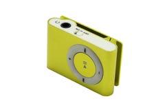 Gelber MP3-Player lizenzfreie stockfotos
