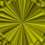Gelber optischer abstrakter moderner Hintergrund mit Strahlen Lizenzfreies Stockfoto